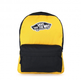 Mochila Vans Realm Backpack negro/amarillo