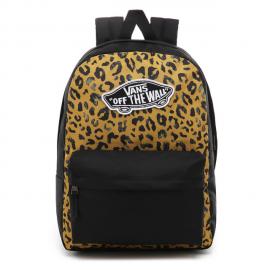 Mochila Vans Realm Backpack estampado leopardo