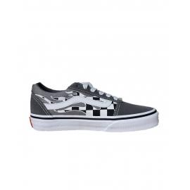 Zapatillas Vans Ward gris/blanco junior