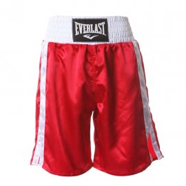 Pantalón boxeo Everlast Pro Boxing Trunks 24 rojo hombre