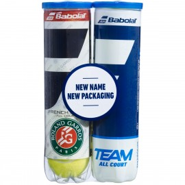 Pelota de tenis Babolat Bipack french open/ team all court