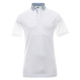 Polo Footjoy Smooth pique blanco hombre