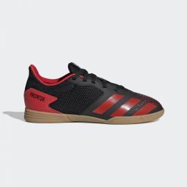 Zapatillas fútbol sala adidas Predator 20.4 IN negro/rojo jr