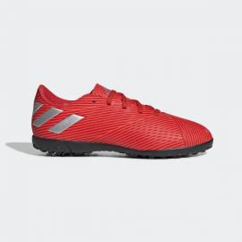 Zapatillas fútbol adidas Nemeziz 19.4 TF J rojo/naranja jr