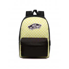Mochila Vans Realm Backpack negro/lima cuadros