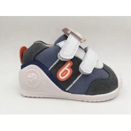 Zapatillas Biomecanics 202150 azul/gris bebé