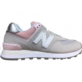 Zapatillas New Balance WL574SOT gris/rosa mujer