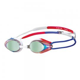 Gafas natación Arena Tracks Mirror dorado/azul/rojo