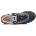 Zapatillas New Balance ML574EAF azul/gris/naranja hombre