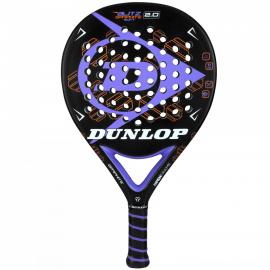 Pala pádel Dunlop Blitz Graphite Soft 2.0 negro/lila