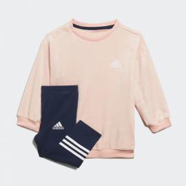 Chándal adidas Velour rosa/marino bebé