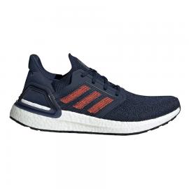 Zapatillas running adidas Ultraboost 20 azul/rojo hombre