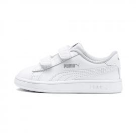 Zapatillas Puma Smash v2 L V PS blanco bebé