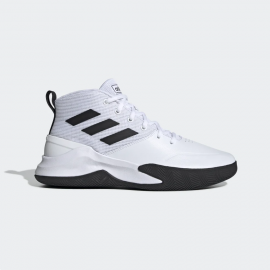 Zapatillas baloncesto adidas Own The Game blanco/negro hombr