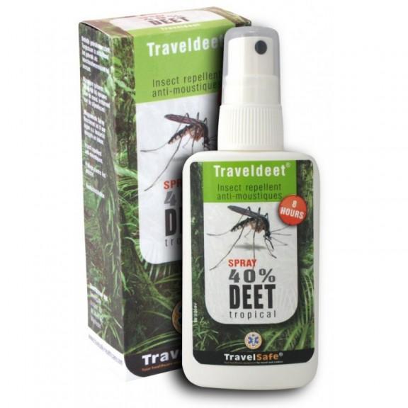 TravelSafe Traveldeet Anti Mosquitos 40% DEET  SPRAY