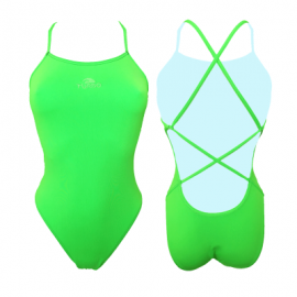 Bañador Turbo Natación sincronizada Sirene verde flúor mujer