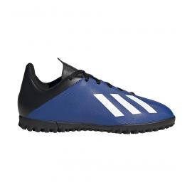 Zapatillas fútbol adidas X 19.4 TF azul/blanco junior