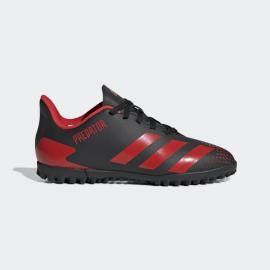 Zapatillas fútbol adidas Predator 20.4 TF negro/rojo junior