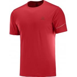 Camiseta trail running Salomon Agiile Ss Tee rojo hombre