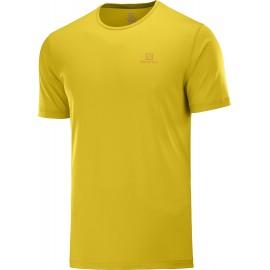 Camiseta trail running Salomon Agile Ss Tee mostaza hombre