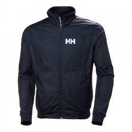 Cazadora Helly Hansen Crew Windbreaker azul marino hombr
