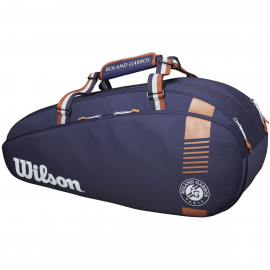 Raquetero Wilson Roland Garros Team 6pk azul