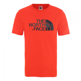 Camiseta The North Face Easy Tee rojo/negro hombre