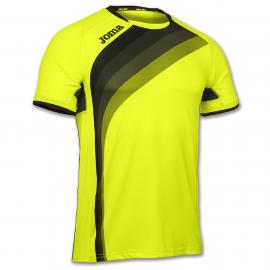 Camiseta running Joma Élite V amarillo flúor/azul junior