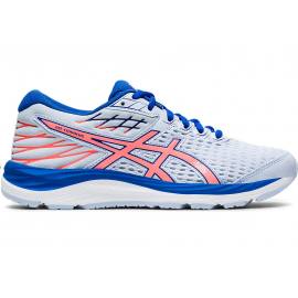 Zapatillas running Asics Gel-Cumulus 21 GS gris/coral junior