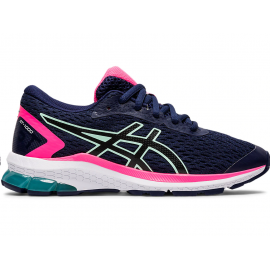 Zapatillas running Asics Gt-1000 9 GS marino/rosa junior