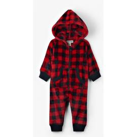 Mono Invierno Hatley Cuadros Rojo/Negro Junior