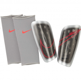 Espinilleras futbol Nike Mercurial Lite gris/negro/rojo