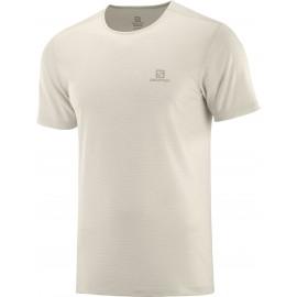 Camiseta outdoor Salomon Cosmic Crew Ss Tee beige hombre