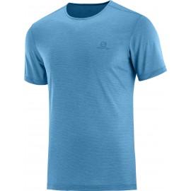 Camiseta outdoor Salomon Cosmic Crew Ss Tee azul hombre