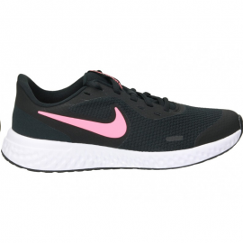 Zapatillas Nike Revolution 5 (GS) negro/rosa junior