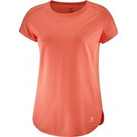 Camiseta montaña Salomon Comet Breeze Tee coral mujer