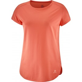 Camiseta outdoor Salomon Comet Breeze Tee coral mujer