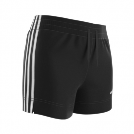 Pantalón corto adidas Essentials 3 Stripes negro/blanco muje