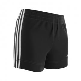 Pantalón corto adidas Essentials 3 Stripes negro/blanco niña