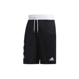 Pantalón corto adidas Sport 3 Stripes negro/blanco hombre