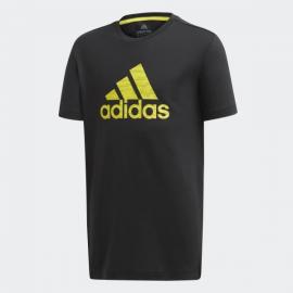 Camiseta adidas Training Prime negro/amarillo niño