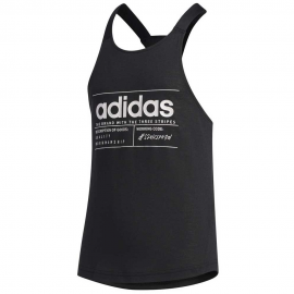 Camiseta tirantes adidas BB Tank negro niña