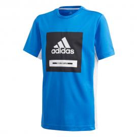 Camiseta adidas Bold azul niño