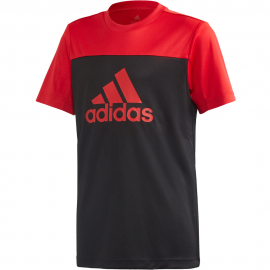 Camiseta adidas Training Equipment negro/rojo niño