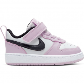 Zapatillas Nike Court Borough Low 2 (TD) rosa/blanco bebé