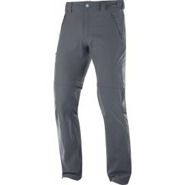 Pantalón outdoor Salomon Wayfarer Straight Zip gris hombre