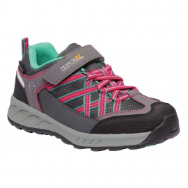 Zapatillas trekking Regatta Samaris V gris/rosa junior