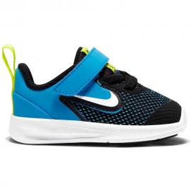 Zapatillas Nike Downshifter 9 (TDV) negro/azul bebé