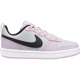 Zapatillas Nike Court Borough Low 2 gris/rosa/negro junior