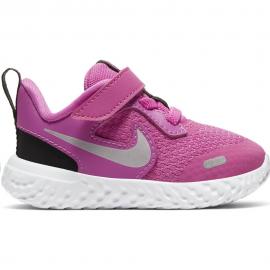 Zapatillas Nike Revolution 5 (TDV) fucsia/gris bebé